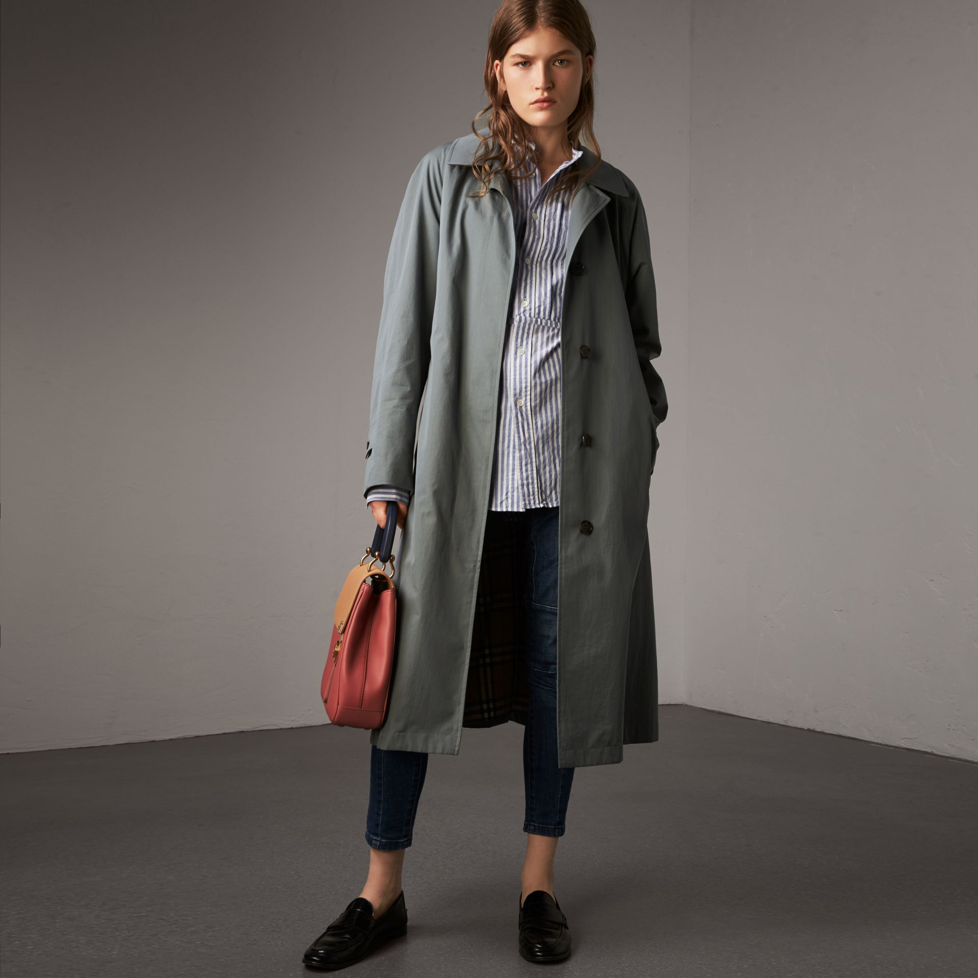 The Brighton Car Coat in Dusty Blue - Women | Burberry United Kingdom - gallery image 0
