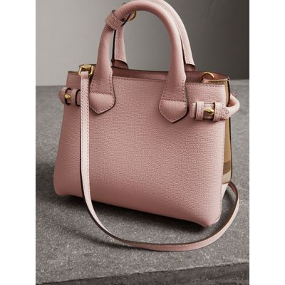 Burberry - The Baby Banner en cuir et coton House check - 5
