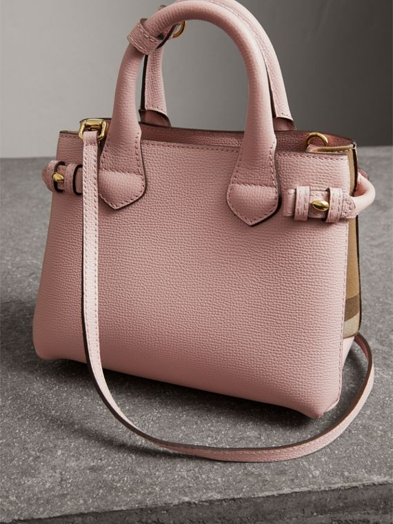 The Baby Banner in Leather and House Check in Pale Orchid - Women | Burberry United States - cell image 3