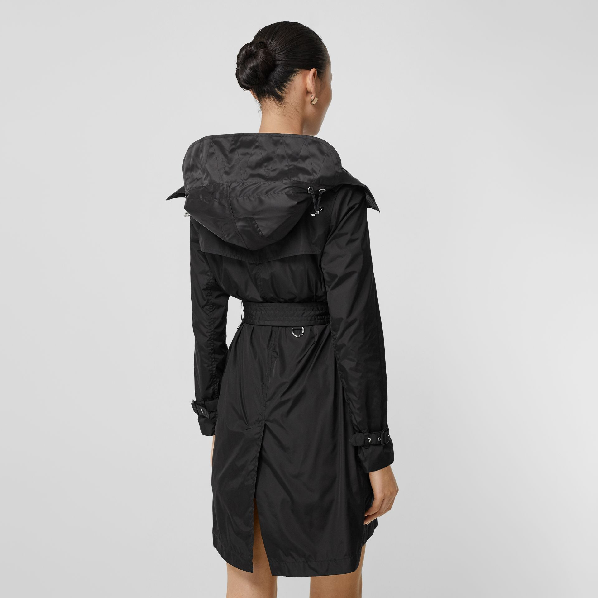 Detachable Hood ECONYL® Trench Coat in Black - Women | Burberry Singapore - gallery image 2