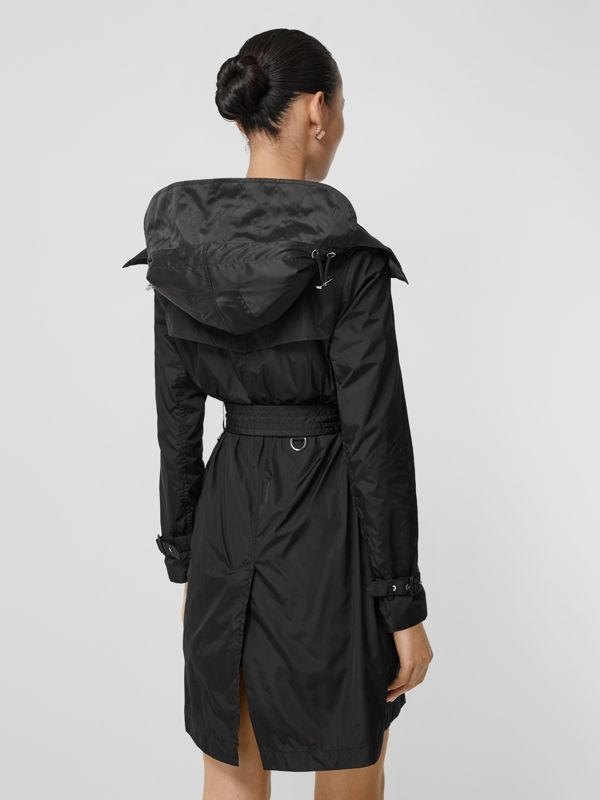 Detachable Hood ECONYL® Trench Coat in Black - Women | Burberry Singapore - cell image 2