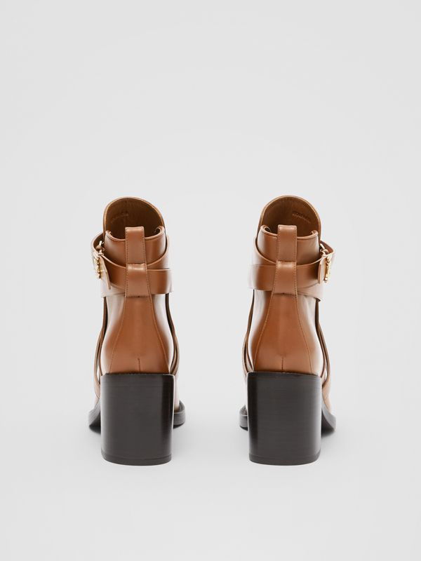 Bottines en cuir Monogram (Hâle) - Femme | Burberry - cell image 3