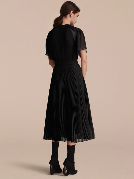 Pleated Silk Dress - Women | Burberry - cell image 2