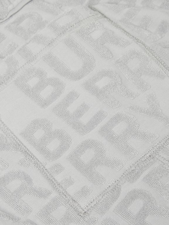 Logo Towelling Drawcord Shorts in Pale Grey | Burberry - cell image 1