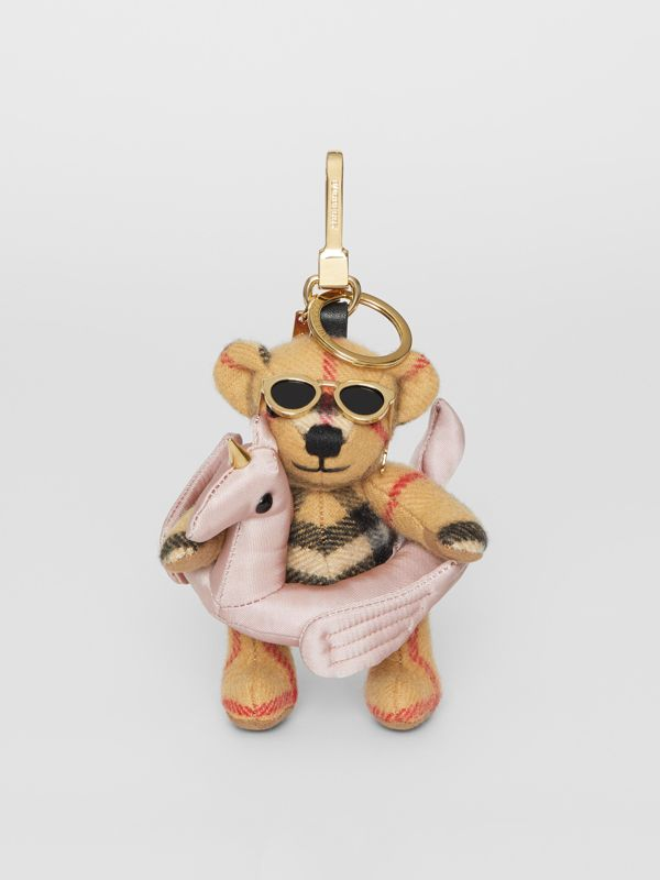 Thomas Bear Charm in Pool Float in Antique Yellow - Women | Burberry - cell image 2