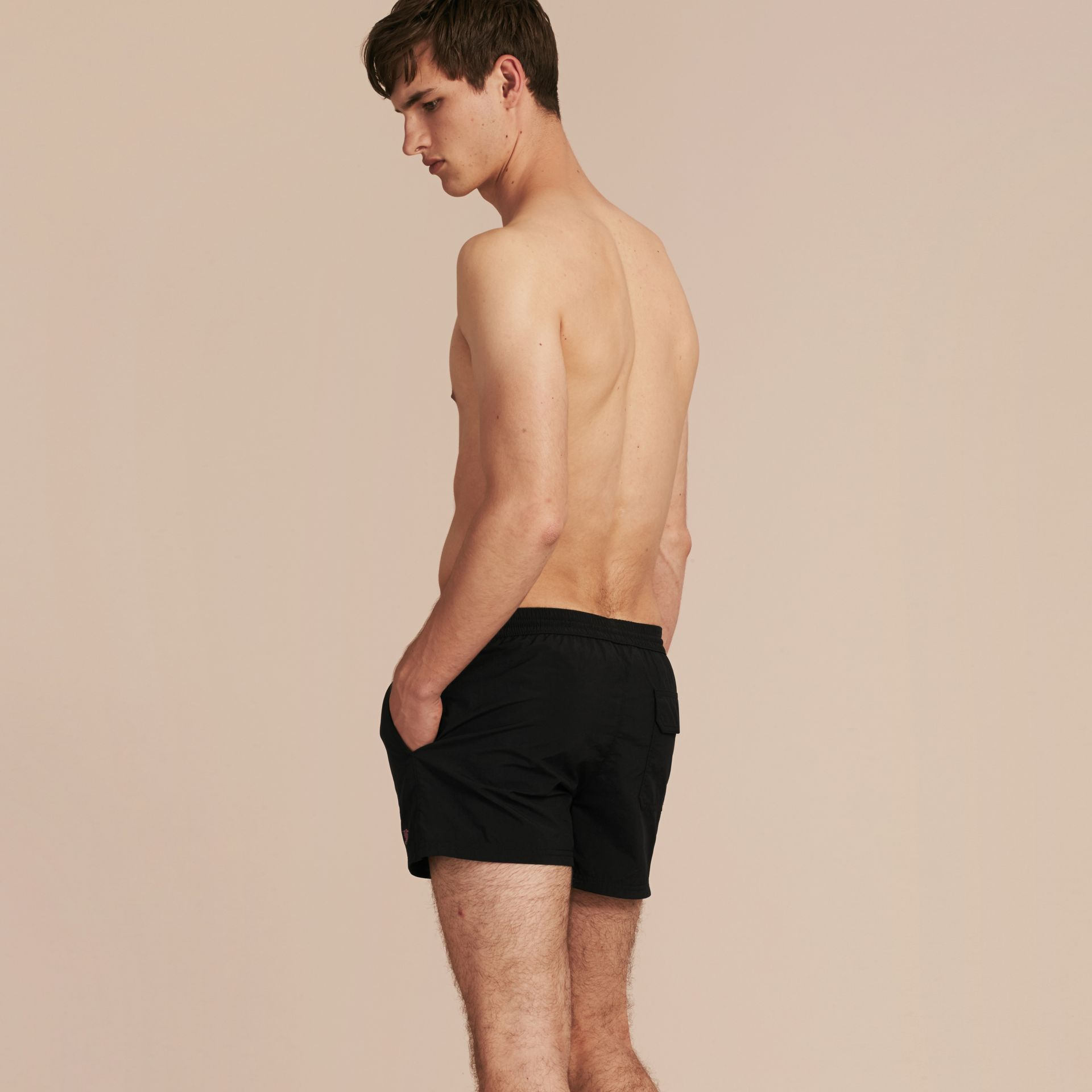 Black Lightweight Swim Shorts Black - gallery image 3