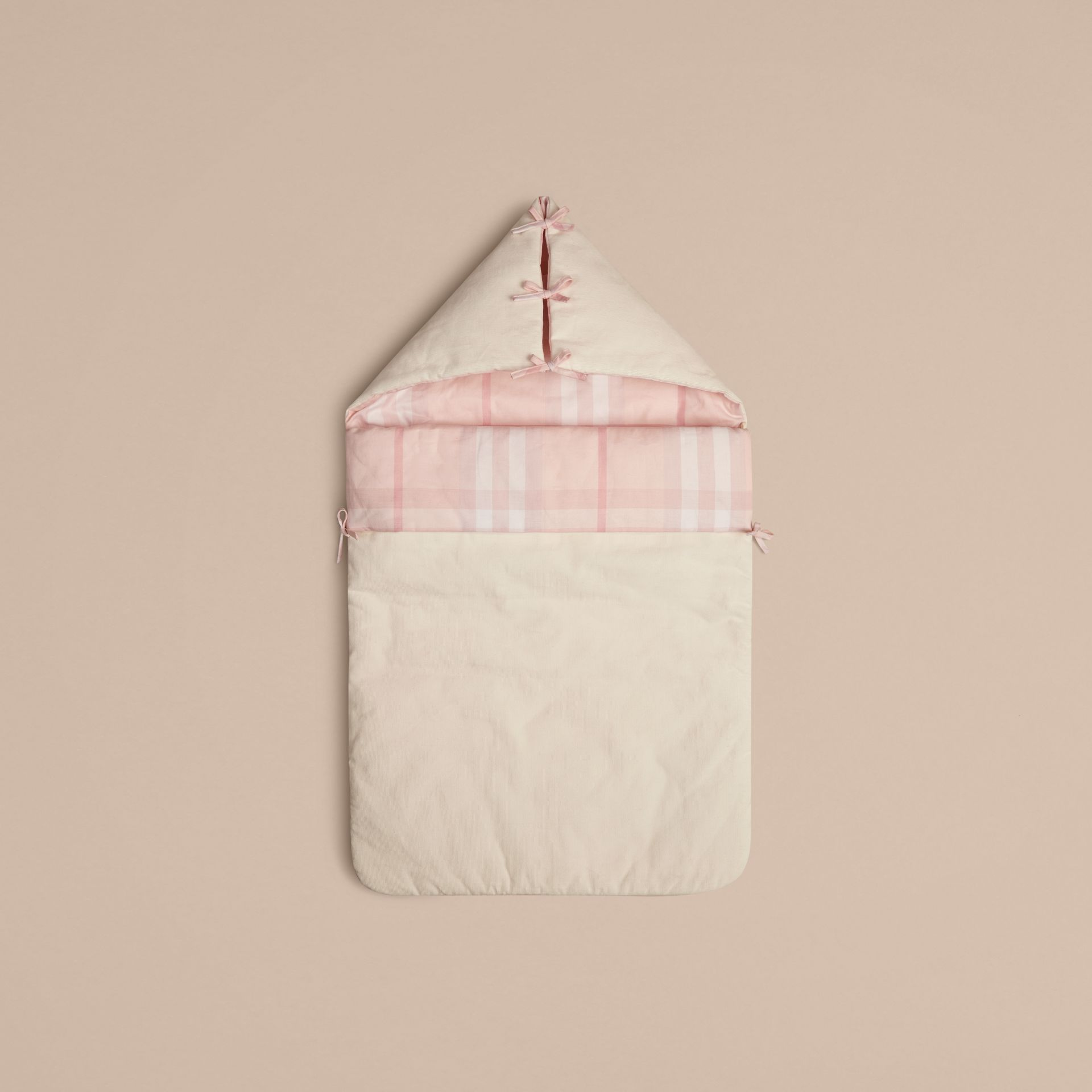 Check-Lined Baby Nest in Ice Pink | Burberry - gallery image 1