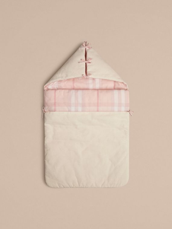 Check-Lined Baby Nest in Ice Pink | Burberry