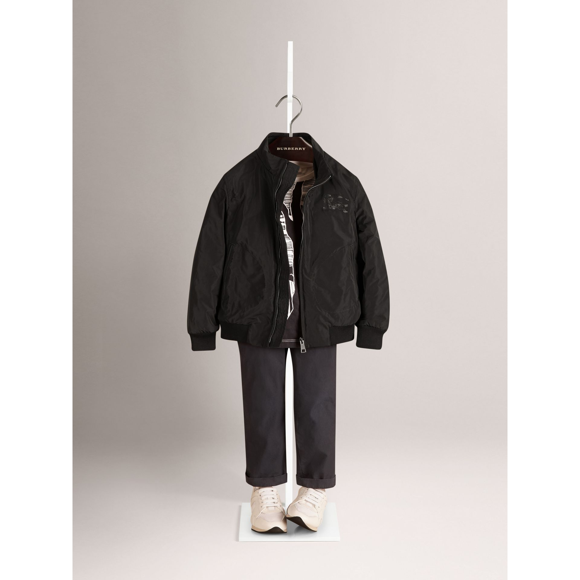 Packaway Lightweight Blouson in Black - Boy | Burberry - gallery image 1