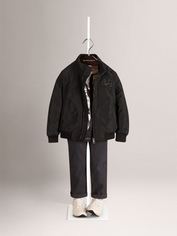 Packaway Lightweight Blouson in Black