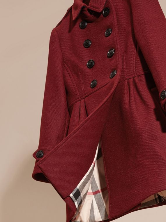 Deep claret Tailored Wool Cashmere Blend Coat Deep Claret - cell image 2