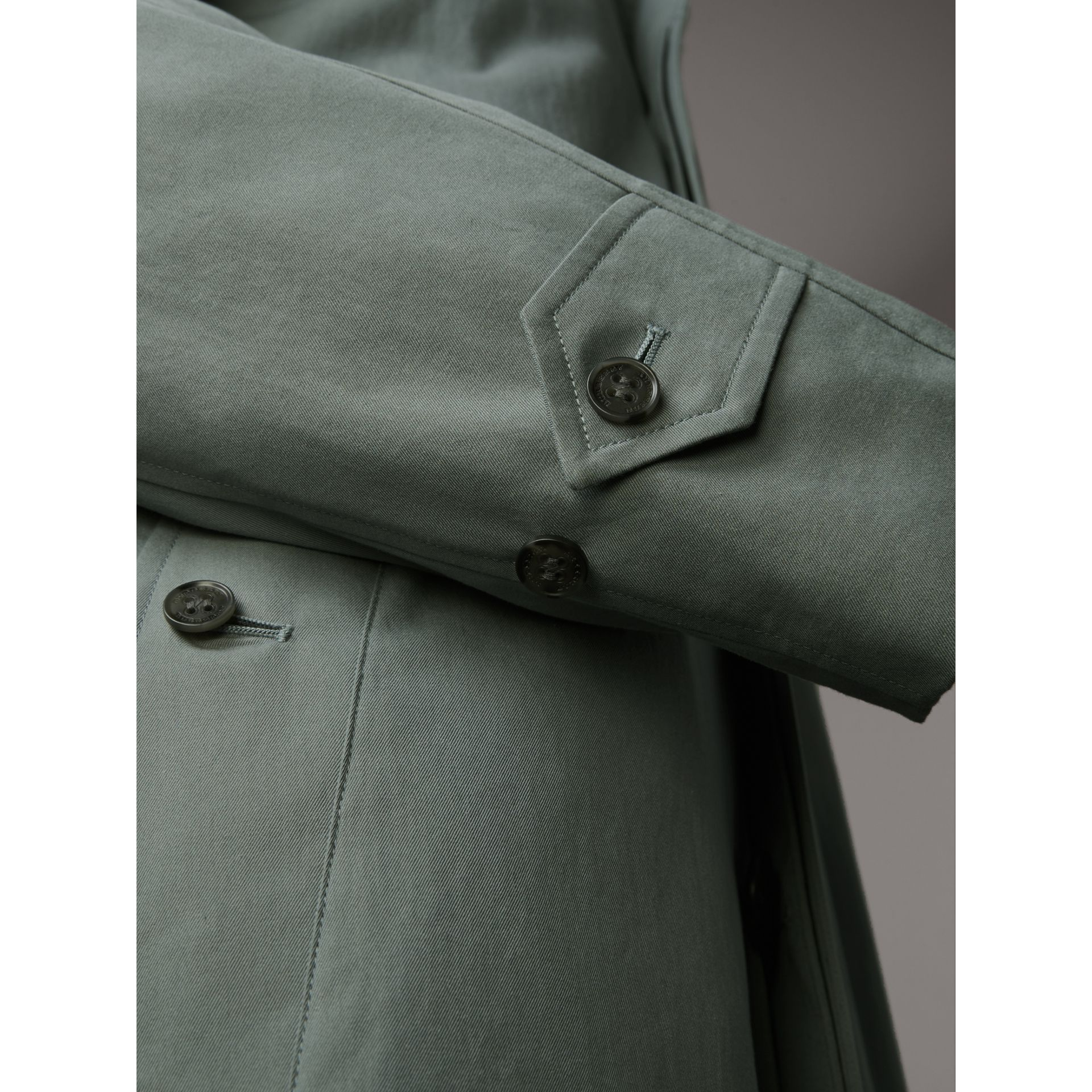 The Brighton Car Coat in Dusty Blue - Men | Burberry - gallery image 4