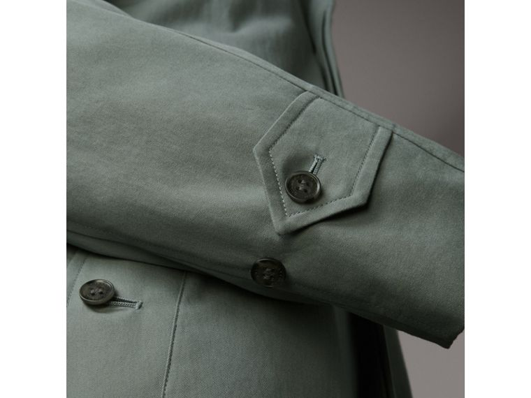 The Brighton – Extra-long Car Coat in Dusty Blue - Men | Burberry - cell image 4