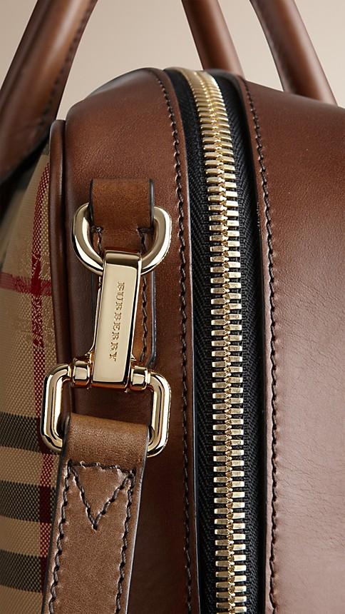 Tan Horseferry Check Crossbody Briefcase - Image 7