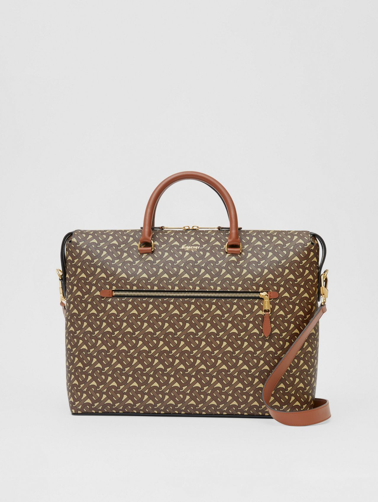 Monogram E-canvas Briefcase in Bridle Brown