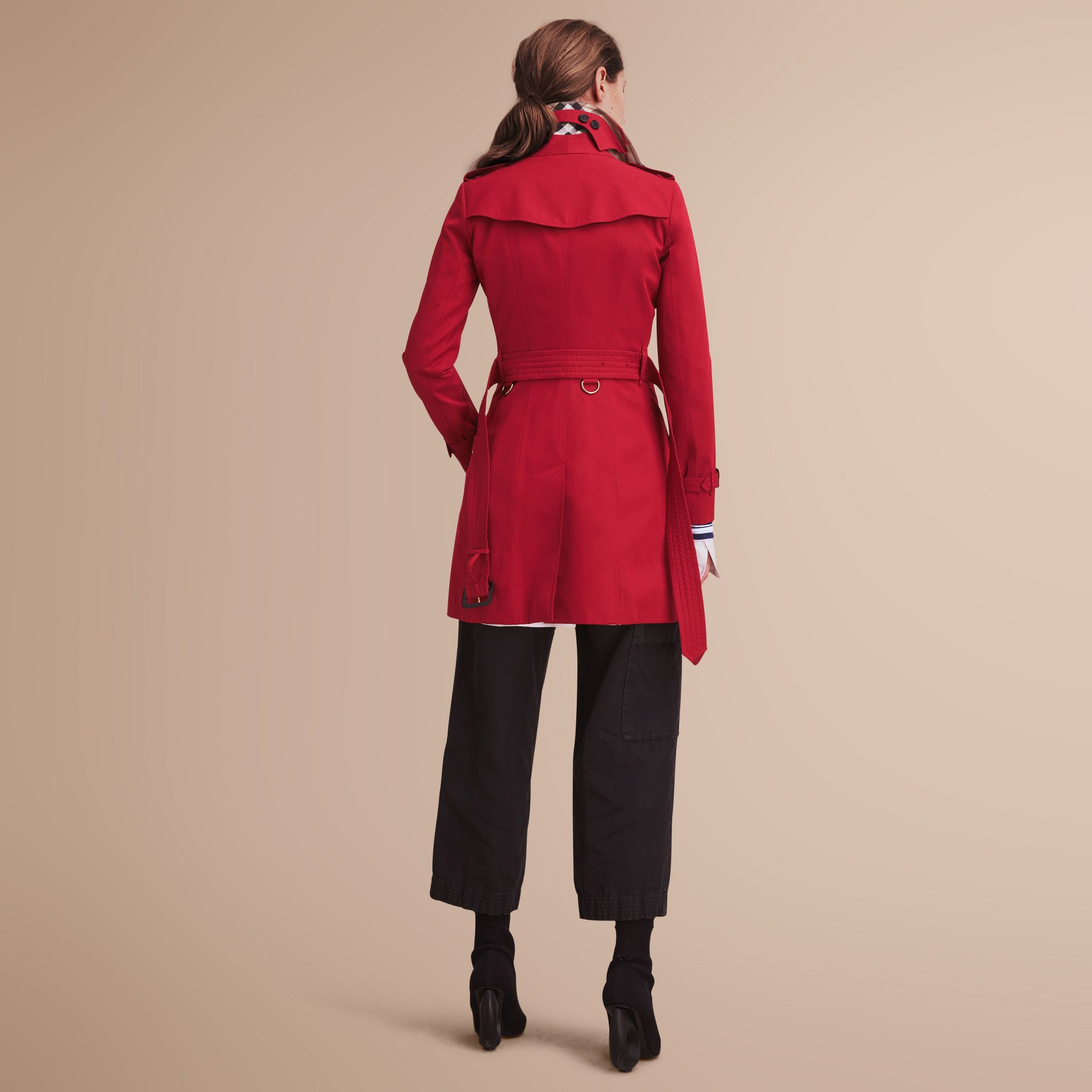 The Chelsea – Mid-length Heritage Trench Coat in Parade Red - gallery image 3