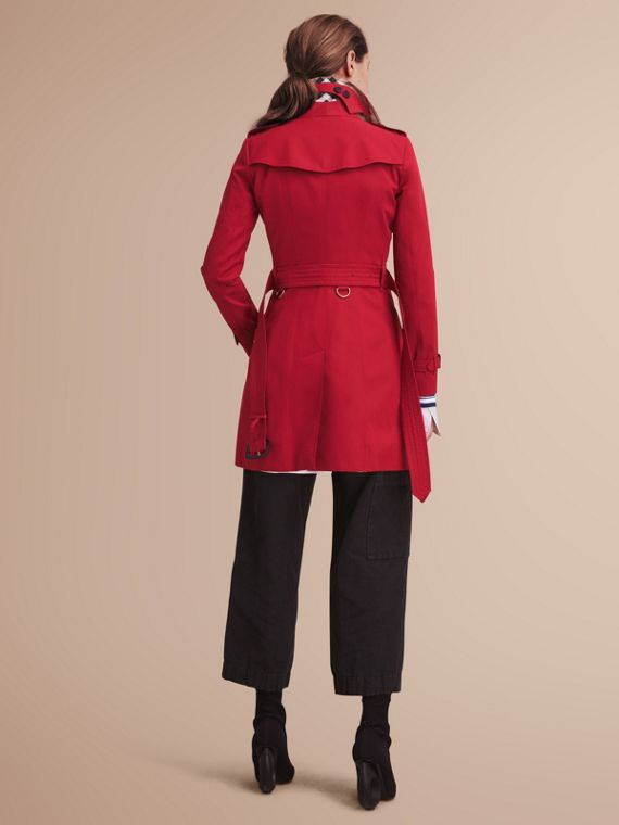 The Chelsea – Mid-length Heritage Trench Coat in Parade Red - cell image 2