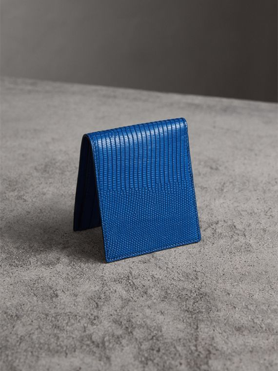 Lizard International Bifold Wallet in Sapphire Blue - Men | Burberry United Kingdom - cell image 2