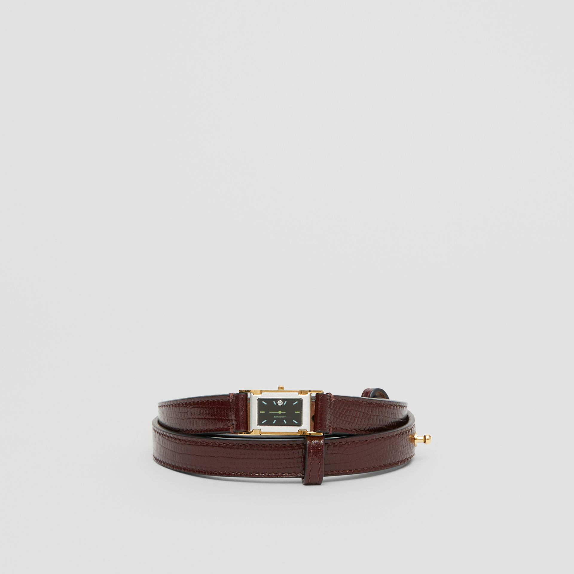 Faux Watch Detail Leather Belt in Tan - Women | Burberry - gallery image 3