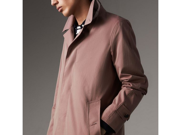 Tropical Gabardine Car Coat in Antique Rose - Men | Burberry - cell image 4