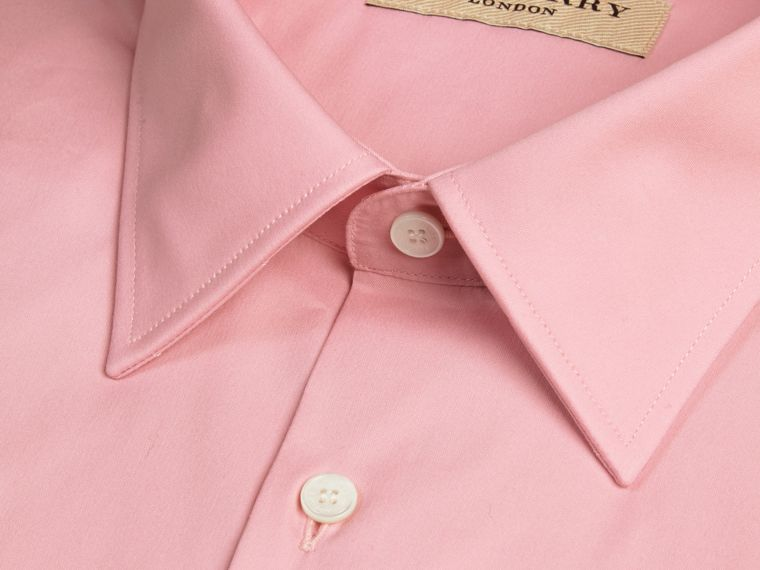 Modern Fit Stretch Cotton Shirt in City Pink - cell image 1