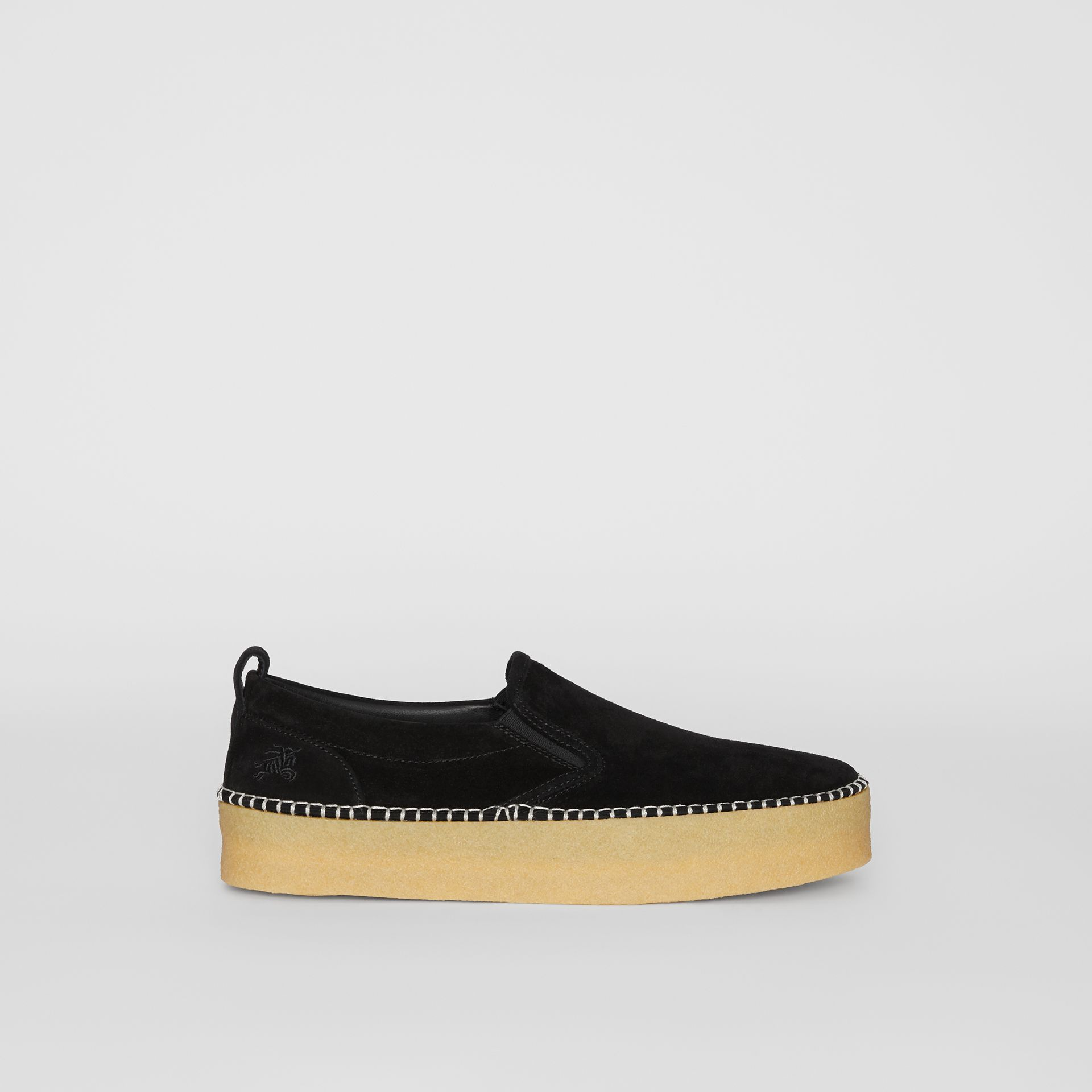 Suede Slip-on Sneakers in Black - Men | Burberry United Kingdom - gallery image 5