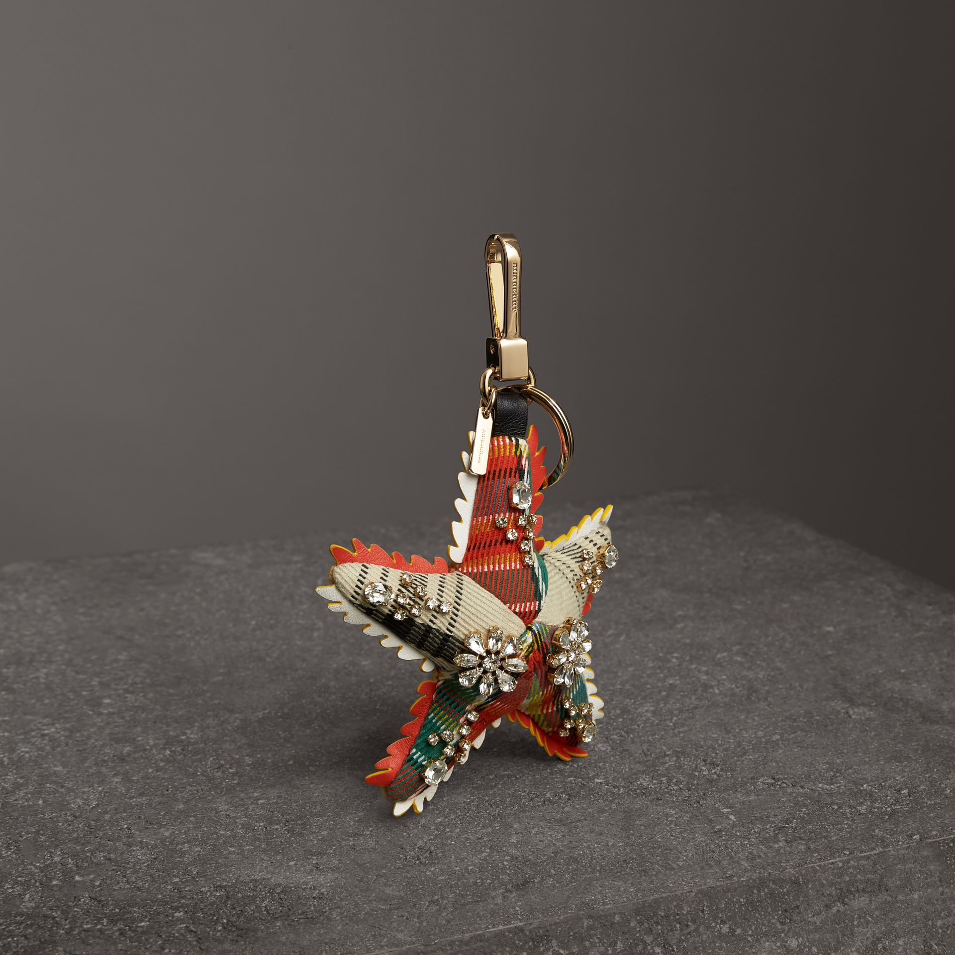 Phil the Starfish Cotton Charm in Orange/multicolour | Burberry - gallery image 0