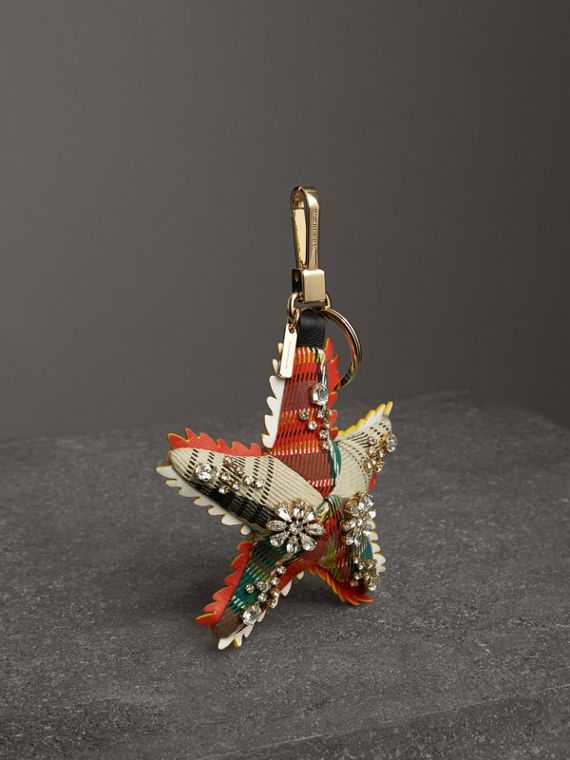 Phil the Starfish Cotton Charm in Orange/multicolour