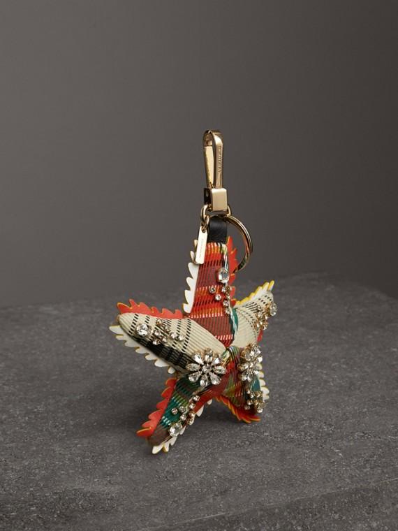 Bijou porte-clés en coton Phil l'Étoile de mer (Orange/multicolore)