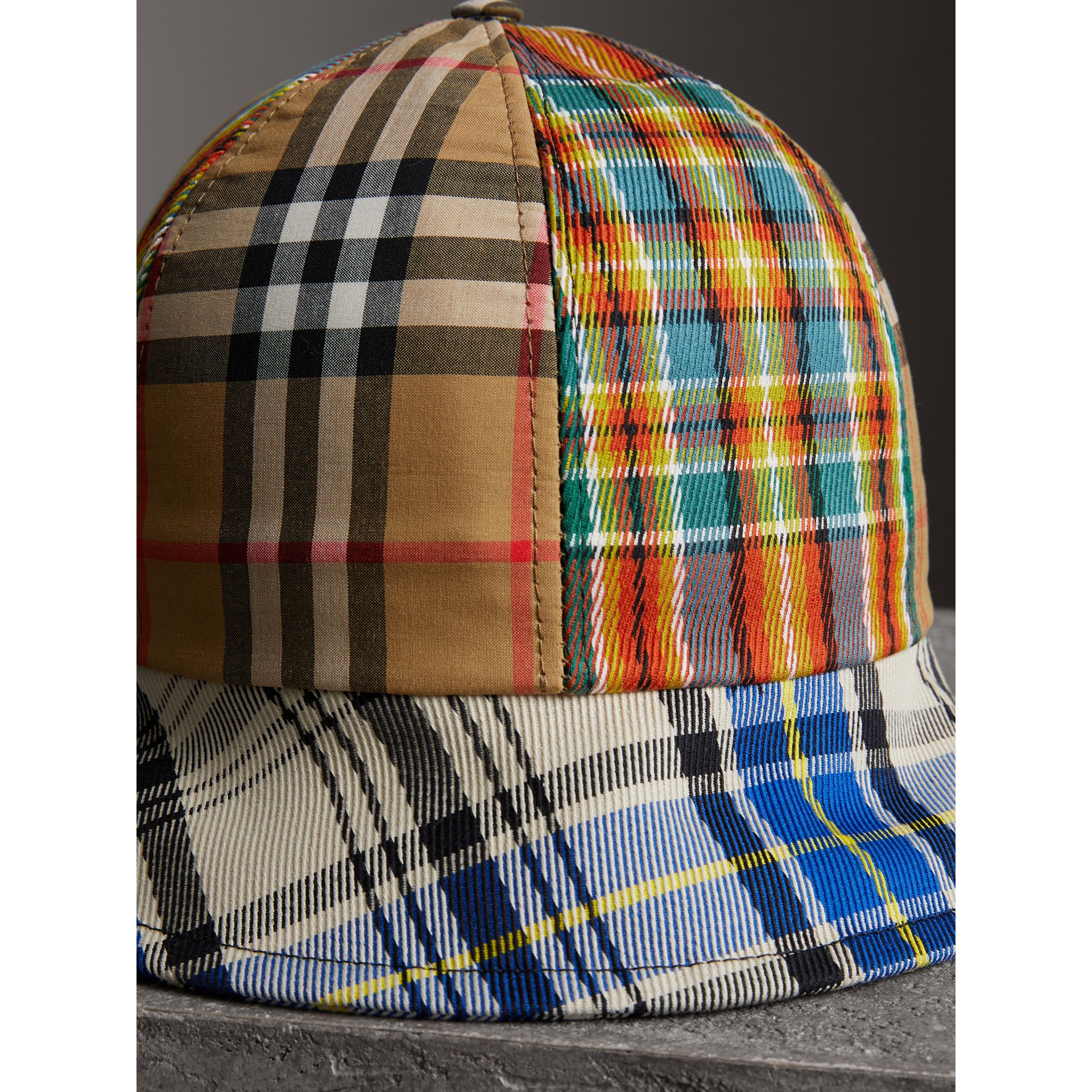 Vintage Check and Tartan Bucket Hat in Antique Yellow | Burberry - gallery image 1
