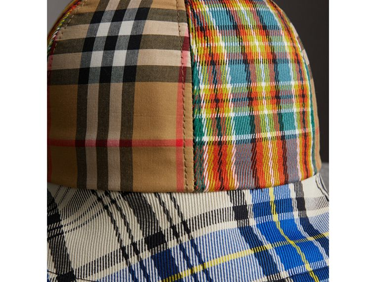 Vintage Check and Tartan Bucket Hat in Antique Yellow | Burberry Canada - cell image 1