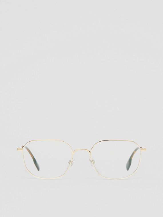 Gold-plated Square Optical Frames in Light