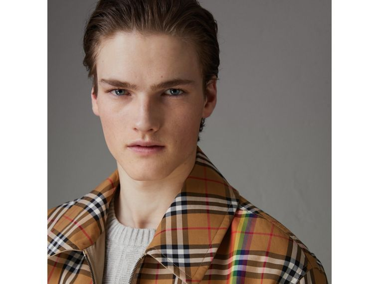 Rainbow Vintage Check Harrington Jacket in Antique Yellow/rainbow - Men | Burberry United States - cell image 1
