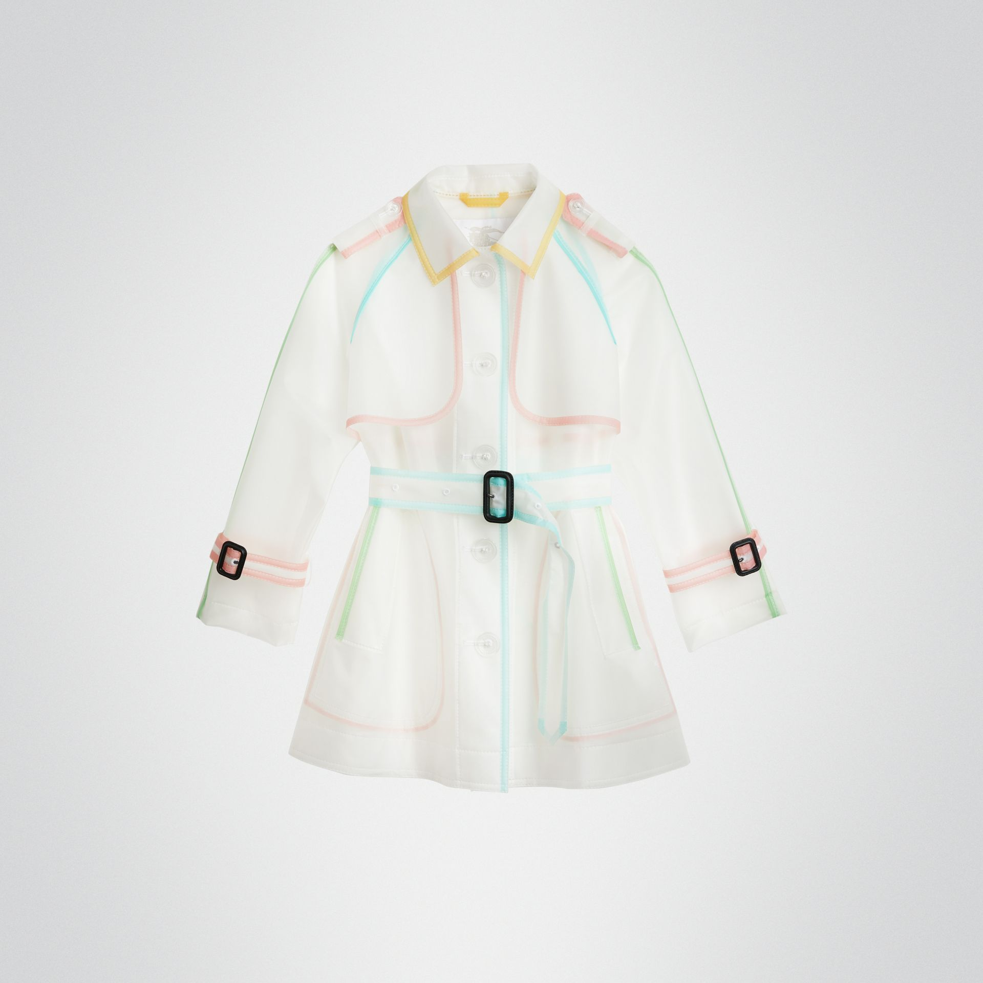 Showerproof Single-breasted Trench Coat in Clear | Burberry United States - gallery image 0
