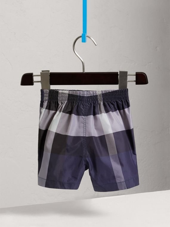Check Technical Swim Shorts in Ink | Burberry - cell image 3