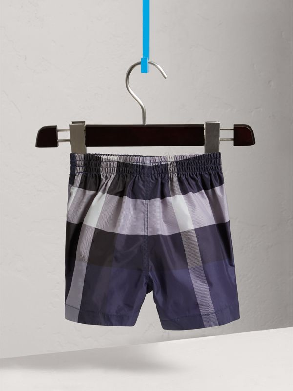 Check Technical Swim Shorts in Ink | Burberry United Kingdom - cell image 3