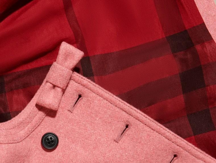 Розовый пион, меланж Пальто с декоративным бантом - cell image 1