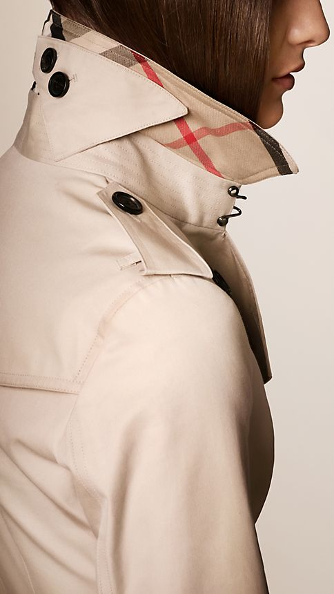 Honey The Sandringham - Short Heritage Trench Coat - Image 3
