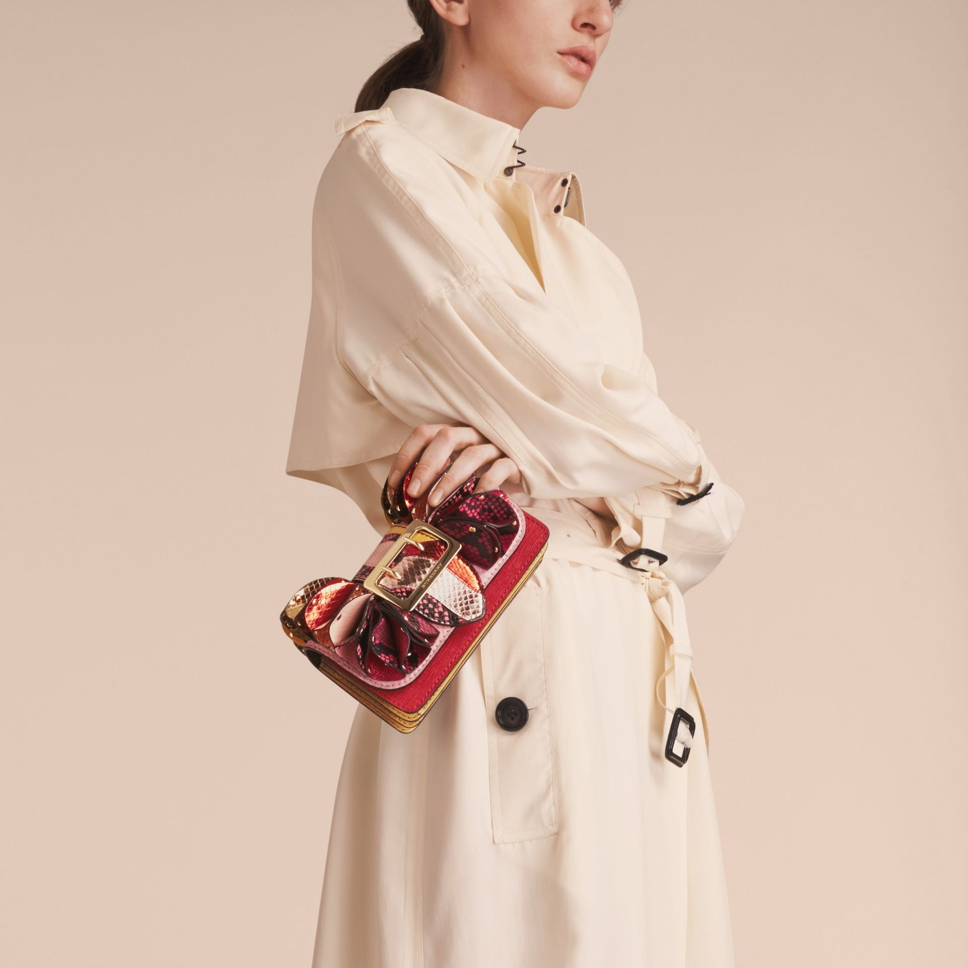 The Ruffle Buckle Bag in Snakeskin and Calf Leather - gallery image 8