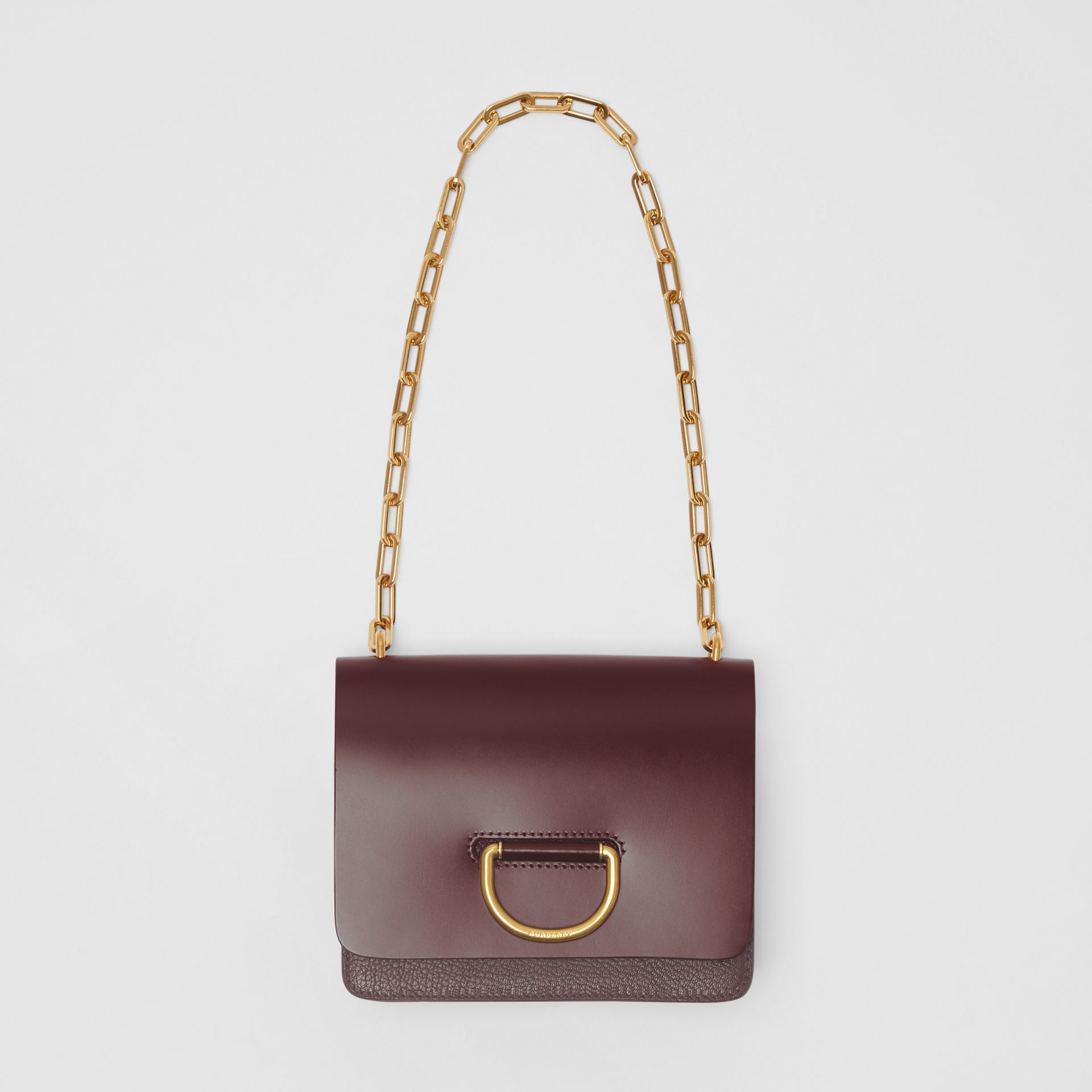 The Small Leather D-ring Bag in Deep Claret - Women | Burberry United Kingdom - gallery image 4
