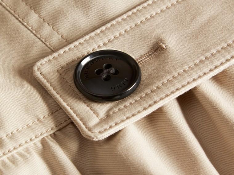 스톤 스트레치 코튼 스커트 트렌치 재킷 - cell image 1