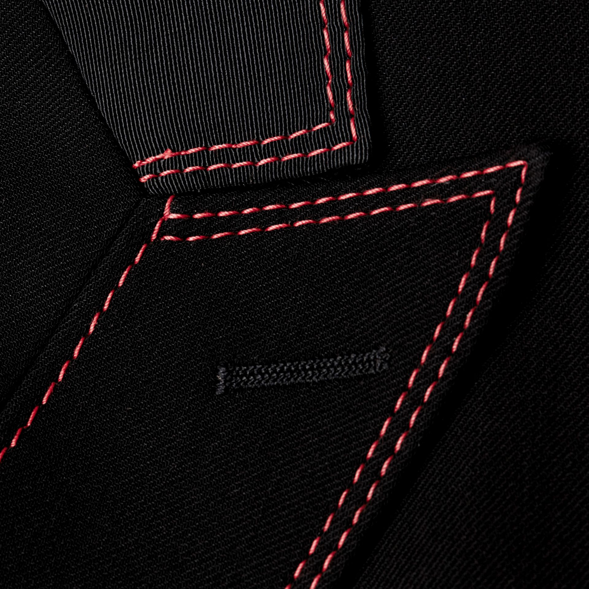 Black Military Wool Silk Twill Jacket - gallery image 2