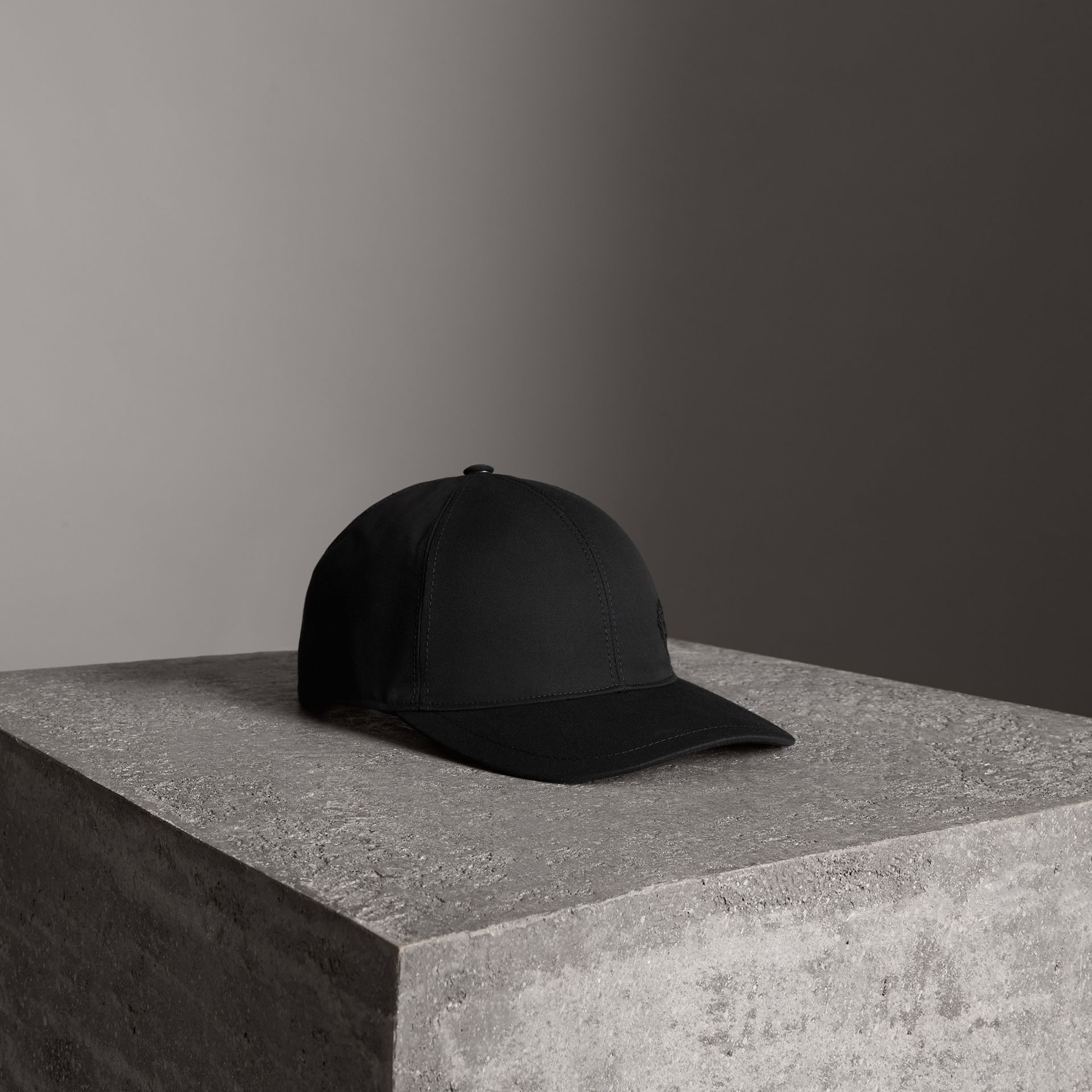 Archive Logo Baseball Cap in Black | Burberry - gallery image 0