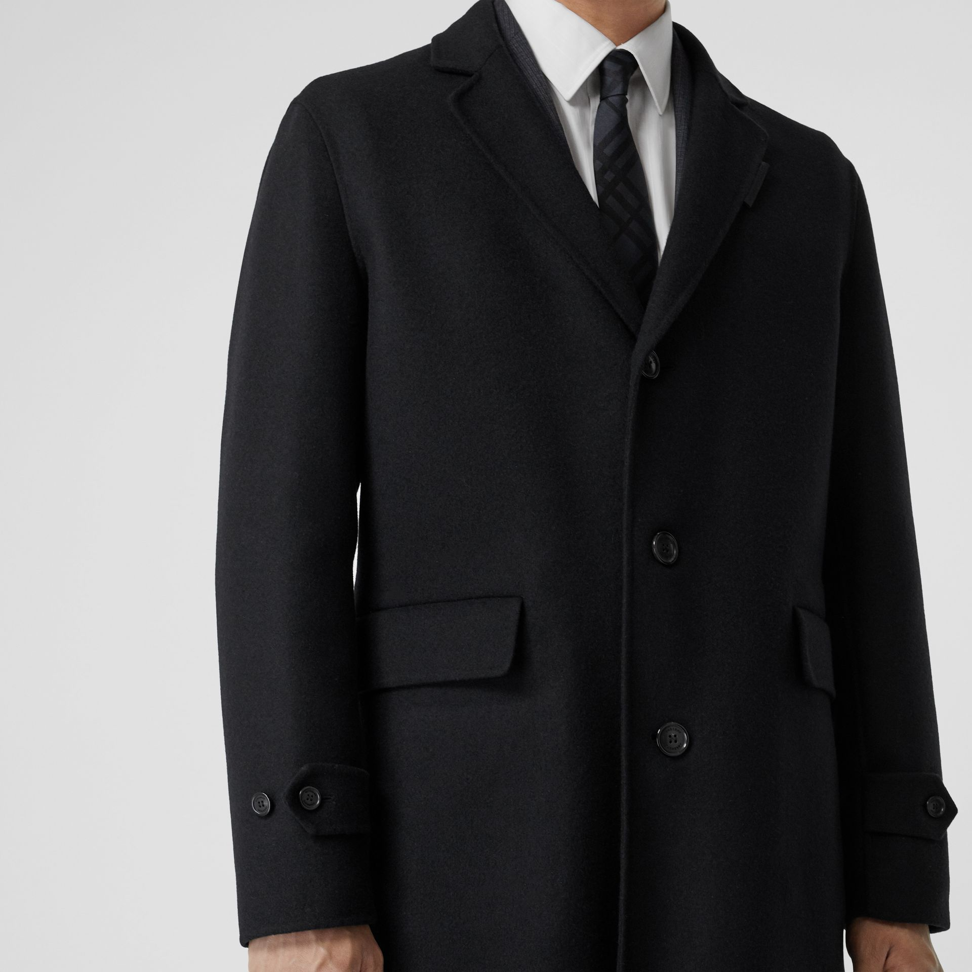 Wool Cashmere Lab Coat in Black - Men | Burberry - gallery image 3