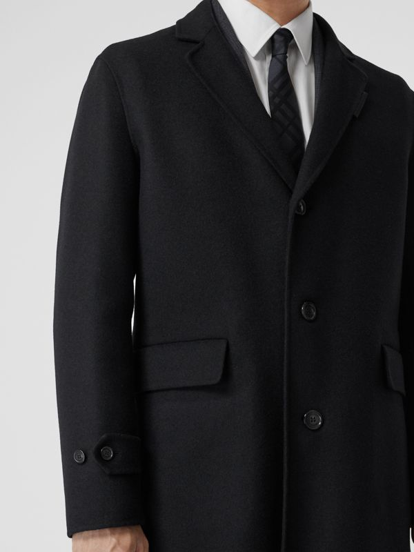 Wool Cashmere Lab Coat in Black - Men | Burberry - cell image 3
