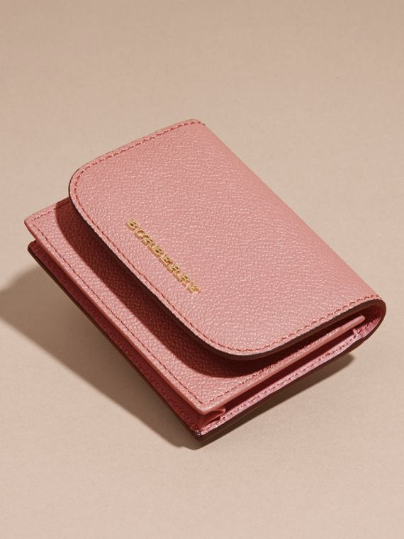 Grainy Leather Card Case in Dusty Pink - cell image 2