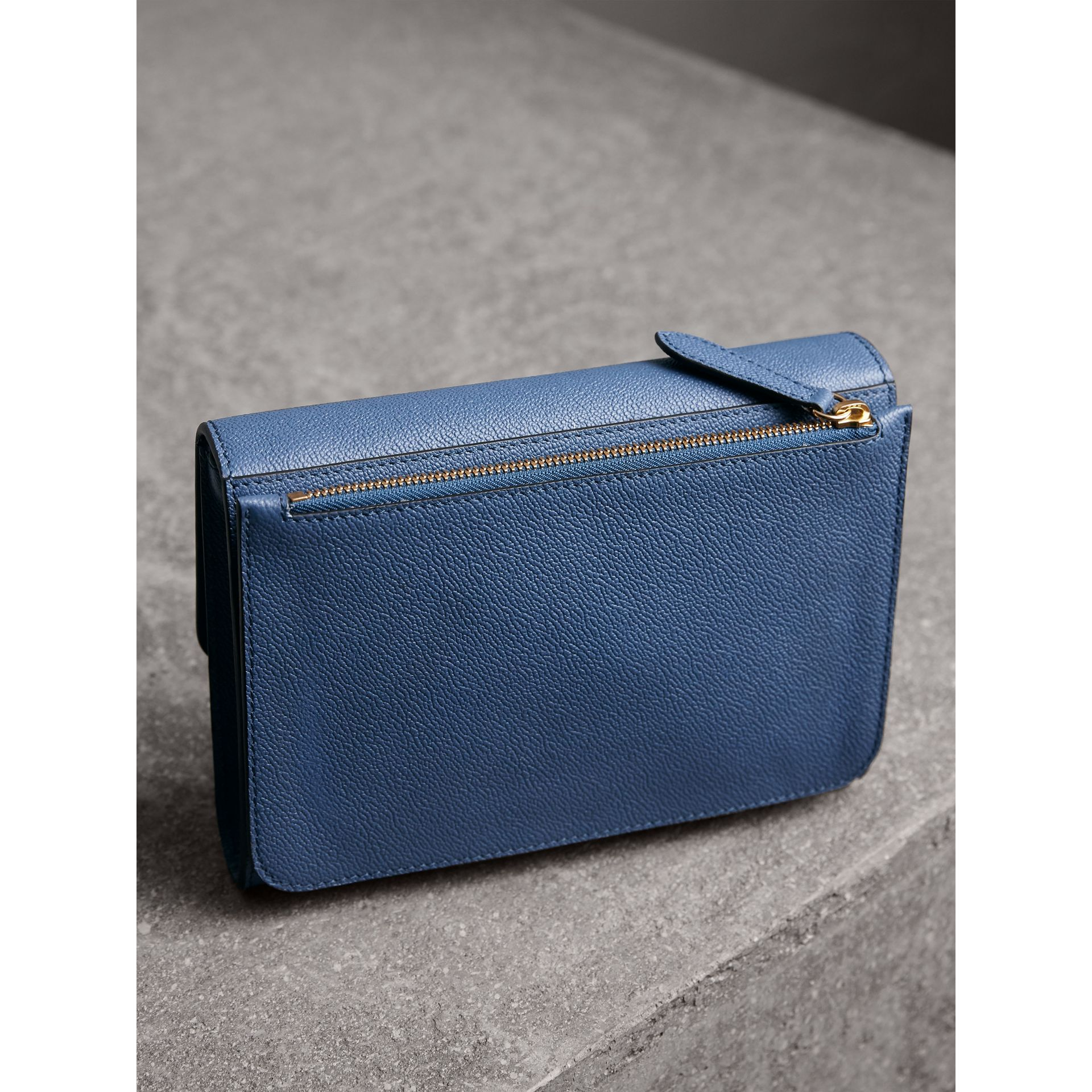 Grainy Leather Crossbody Bag in Steel Blue - Women | Burberry - gallery image 5