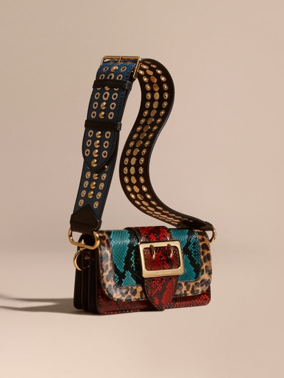 The Patchwork in Snakeskin and Leopard-print Calfskin - Women   Burberry