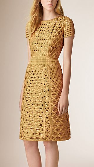 Macramé Tape Shift Dress