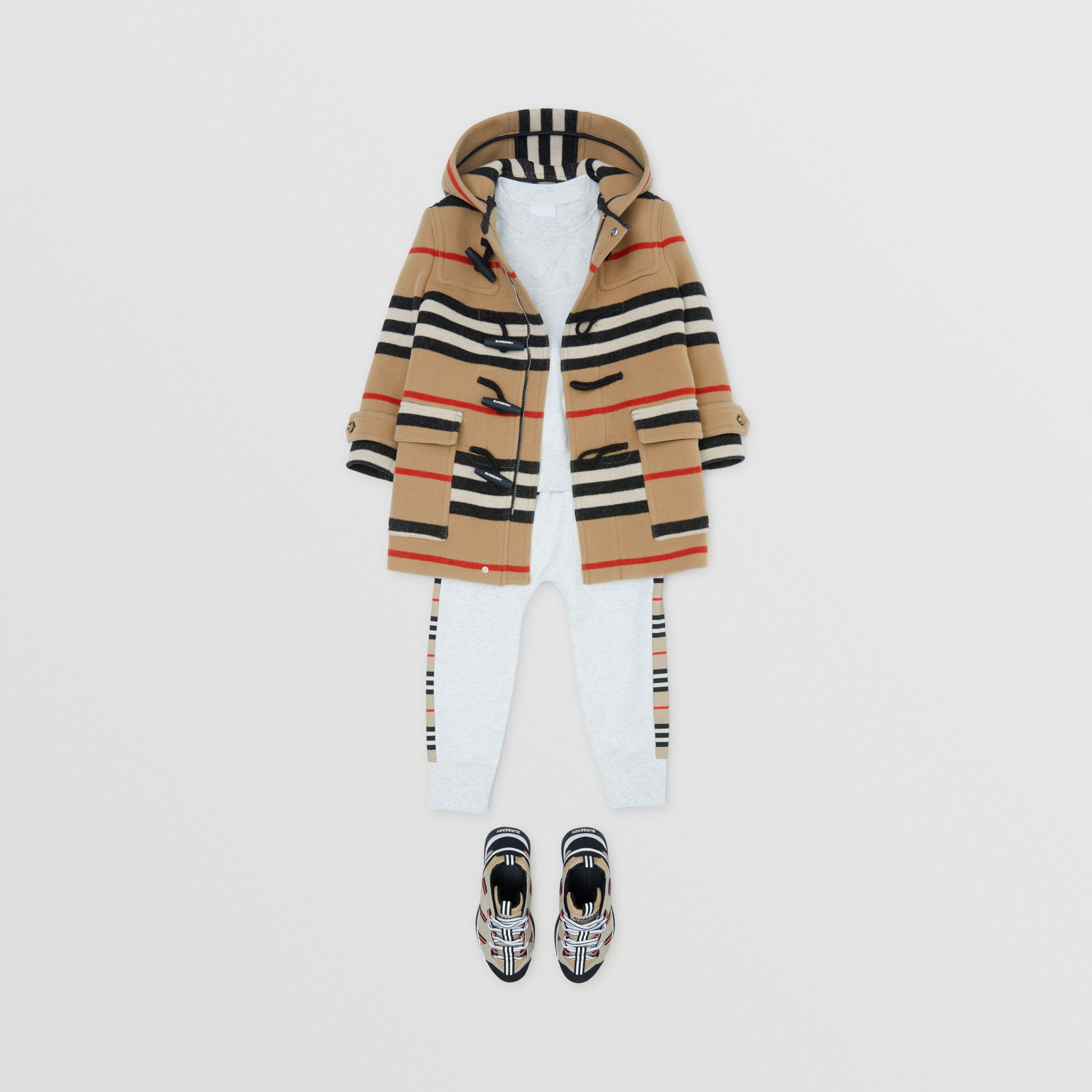 Double-faced Icon Stripe Wool Duffle Coat | Burberry - 3